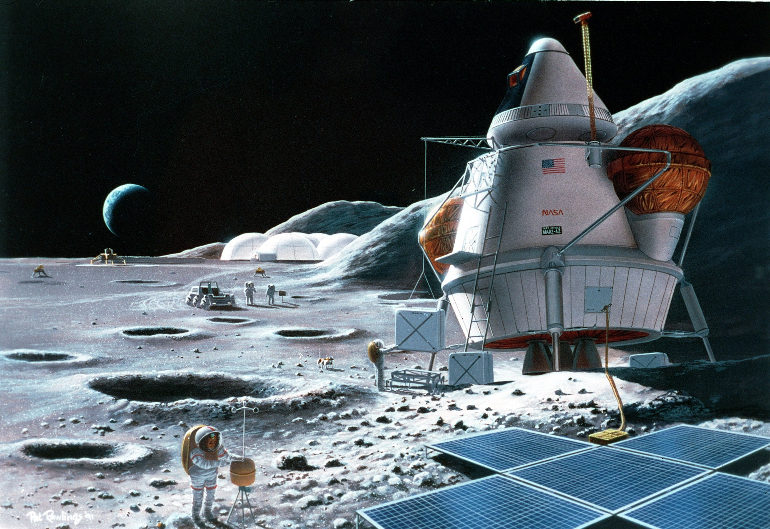 manned mission to mars 3d art - photo #7